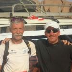 Thierry et Pierre Gagnière, à l'arrivée de la Transaharana.