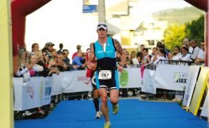 Arrivée de la course de l'Ironman au Brésil en 2009