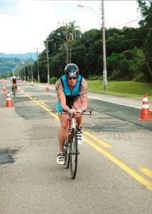 Etape en vélo de l'Ironman au Brésil en 2009