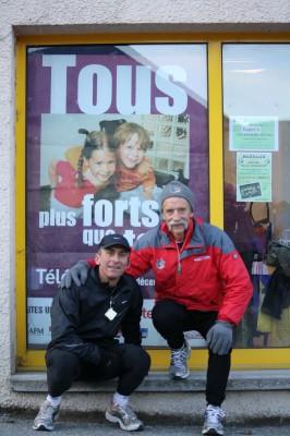 Téléthon 2009 - Thierry Adeline et Pierre Gagnière à Barrault